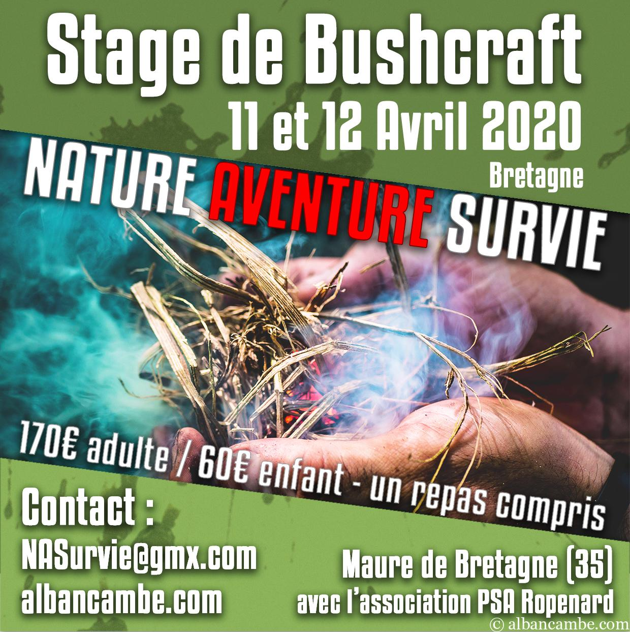 stage de bushcraft 2020