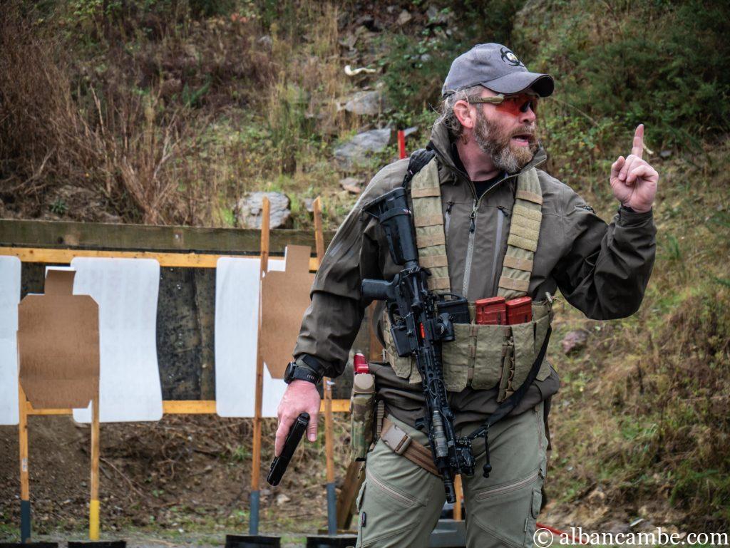 Jeco Bicelli alias Instructor Zero a offert aux forces spéciales françaises un stage de deux jours en Bretagne.  © Alban Cambe